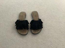Lazamani Pantolleten schwarz, wenig getragen, Gr. 40