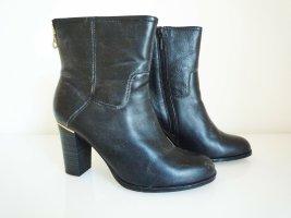 Lazzarini Stiefeletten, Leder, Größe 39, schwarz, 8 cm Absatz