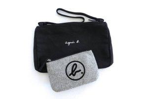 agnes b. Mini Bag black-grey