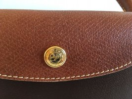 Longchamp Travel Bag dark brown-gold-colored