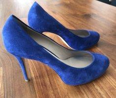 LE SILLA kobaltblaue High Heels, Größe 40