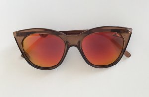 Le Specs Butterfly Glasses brown-red