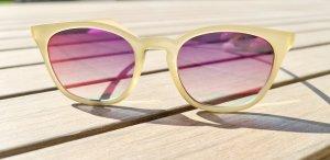 Le Specs Gafas de sol redondas beige claro