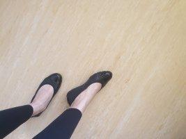 5th Avenue Patent Leather Ballerinas black
