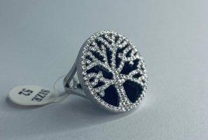Anello d'argento bianco