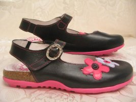 Cosmos Chic Slingback Ballerinas black-pink leather