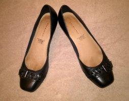 5th Avenue Ballerine en pointe noir cuir