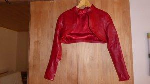 Blazer in pelle rosso Pelle
