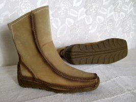 Wedge Booties light brown leather