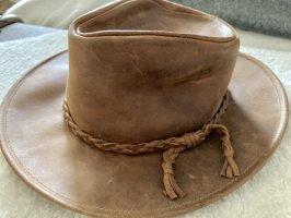 Cappello da cowboy marrone-cognac