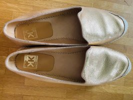 Kim Kay London Espadrille sandalen goud Leer