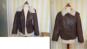 Clockhouse Flight Jacket brown-natural white