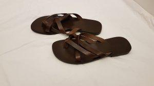 Emozioni Flip-Flop Sandals taupe leather