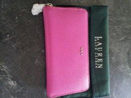 Lauren by Ralph Lauren Wallet pink-silver-colored leather