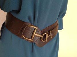 Mexx Cintura di pelle marrone-nero