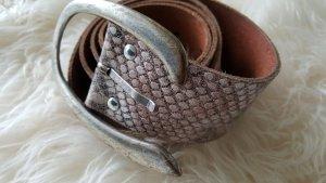 Leather Belt oatmeal-beige