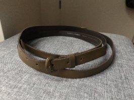 Dorothy Perkins Cintura di pelle marrone-bronzo