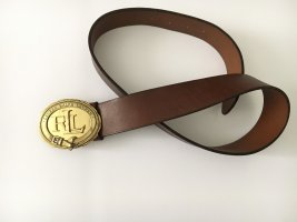Lauren by Ralph Lauren Leather Belt gold-colored-cognac-coloured