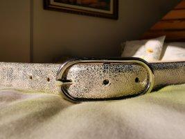 Leder-Gürtel silber