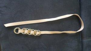 Marc Cain Cinturón de cuero color oro-beige Cuero