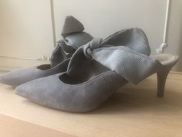 Gino Rossi Heel Pantolettes light grey leather