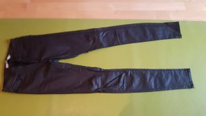 Only Pantalon en cuir noir tissu mixte