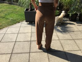 Leather Trousers bronze-colored leather