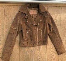 Goosecraft Veste en cuir multicolore cuir