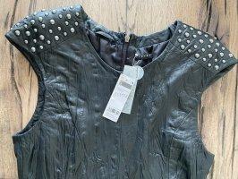 Sisley Robe en cuir noir