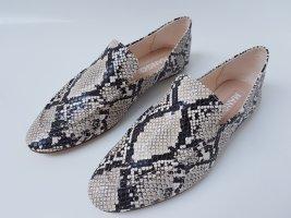 Mango Zapatos formales sin cordones gris antracita-blanco puro