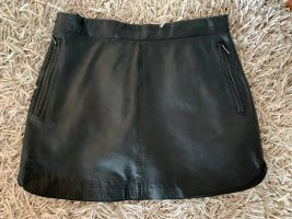 Leder-Minirock schwarz