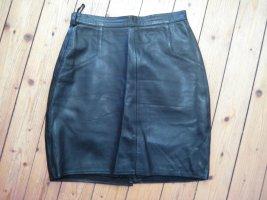 Leder Minirock schwarz XS