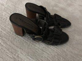 Tamaris Heel Pantolettes black