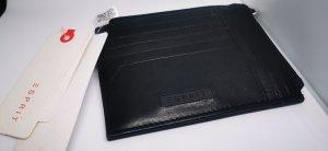 Leder Portemonnaie Geldbörse Esprit schwarz extra flach neu mit Etikett