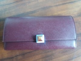 Fendi Wallet bordeaux leather