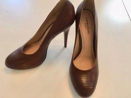 Vertigo Escarpin à plateforme brun cuir