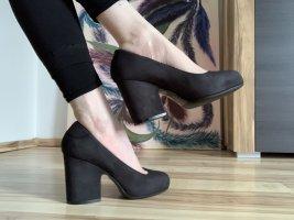 Acne Zapato Tacón negro Cuero