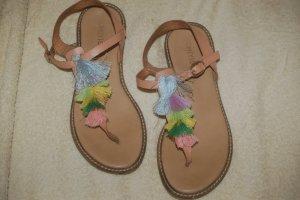 Onygo Sandalo toe-post color cammello Pelle