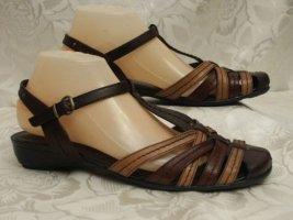 Leder Riemchen Sandalette Größe 40 JANA Braun