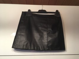 River Island Leather Skirt black-gold-colored