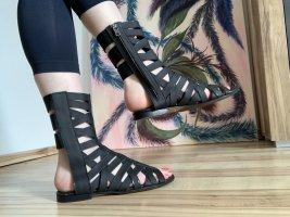 Acne Romeinse sandalen zwart