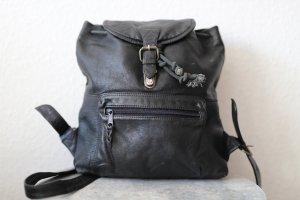 Leder Rücksack in schwarz von FUNBAG