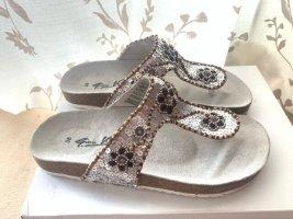 Gino ventori Sandales confort gris clair-bronze
