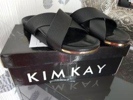 Kimkay Comfortabele sandalen zwart Leer