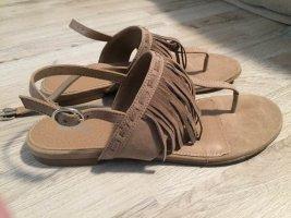 Graceland Sandalo toe-post beige
