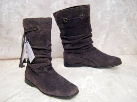 Slouch Boots brown leather