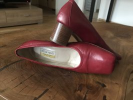 Made in Italy Wedge Pumps dark red-beige