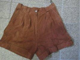 / Pantalon en cuir brun cuir
