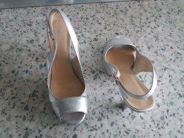 Leder silber Sandalletten von Chillany gr39