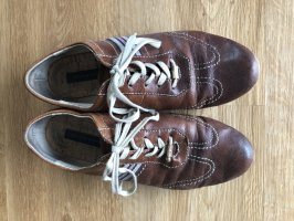 Tommy Hilfiger Lace-Up Sneaker brown leather
